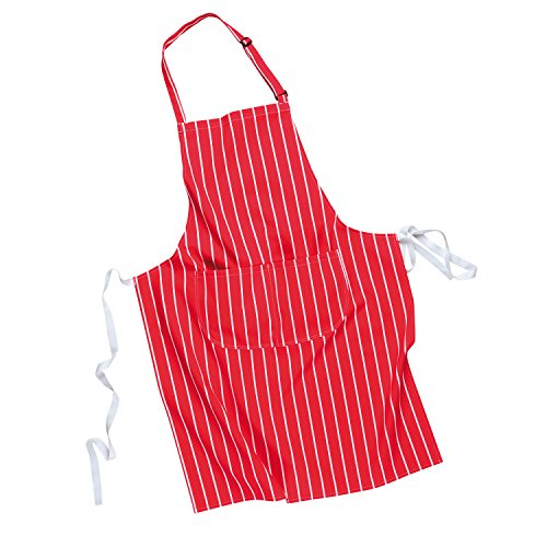Hohe Sichtbarkeit Overall (Portwest Butchers Apron with Pocket - Red - 0 - S855 - One Size EU / UK)