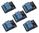 Gaoxing Tech. 5PCS 5V zwei 2 Kanal Relais Modul mit optocoupler Für Arduino PIC AVR DSP ARM