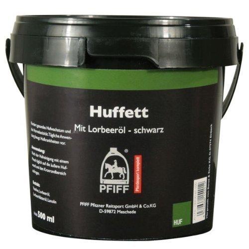 PFIFF Huffett mit Lorbeeröl, Pferde Hufpflege, hochwertige Öle, schwarz, 500 ml