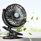innislink Clip on Fan, Mini Desk Fan Portable Rechargeable Battery Operated for Laptop