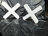 Cavaletti-Kreuze (4 Stk.) 9x9cm, weiß lackiert, aus Spezialholz Douglasie (Stückpreis 21,84€ inkl. Versandkosten franko BRD))