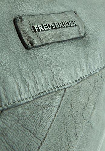 FREDSBRUDER Damen Ledertasche STRIPES Logo Grey