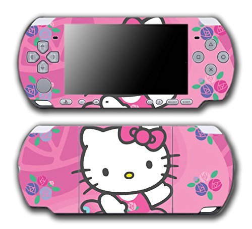 Hello Kitty Ballerina Ballet Dance Pink Flowers Dress Video Game Vinyl Decal Skin Sticker Cover for Sony PSP Playstation Portable Slim 3000 Series System by Vinyl Skin Designs