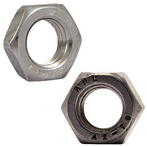 OPIOL QUALITY   Sechskantmuttern M10 niedrige Form DIN 439 Edelstahl A2 (20 Stück)   Flache Mutter   Sechskant-Muttern   halbe Mutter
