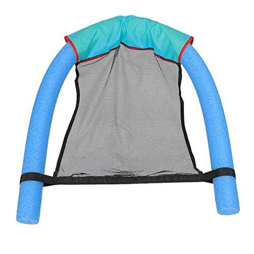Panamami sedia galleggiante new novelty bright colour pool floating chair seggiolini da piscina fantastica sedia a sdraio sedia pool noodle chair - blu