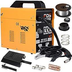 COSTWAY Poste à Souder Mig Inverter avec Gaz Soudage Electrique Kit De Soudage Machine à Souder (Jaune)