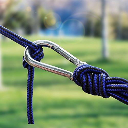 Hängematte, ViViSun Tragbaren Parachute Hängematte Picknickdecke Tuchhängematte Doppel-Hängematte bis 200 kg - 3
