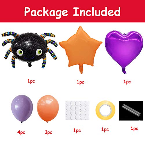 SilenceID Ballon Kombination Halloween Dekoration Spinne Kombination Ballon Home Party Dekoration Horror Spinne Requisiten