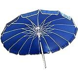 Ombrellone da spiaggia 220 cm ombrellone giardino blu