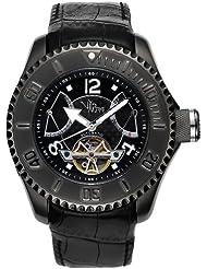 V.I.P. Time 5032TT - Reloj de caballero automático, correa de caucho color negro