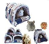 Mkouo Hängematte Kleintier Spielzeug Höhle Käfig Plüsch für Eichhörnchen für Pet Kaninchen/Meerschweinchen/Galesaur/Hamster/chinchilla