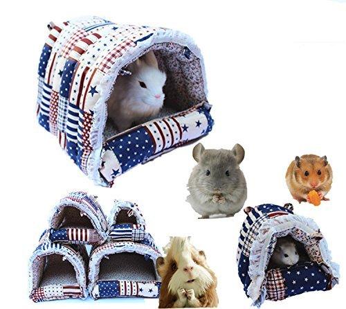 Mkono Hängematte Kleintier Spielzeug Höhle Käfig Plüsch für Eichhörnchen für Pet Kaninchen/Meerschweinchen/Galesaur/Hamster/chinchilla