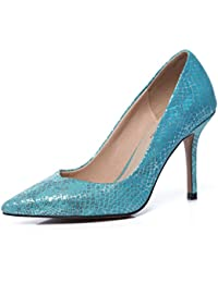 GRRONG Zapatos De Cuero De Moda Día Odiados De Las Mujeres De Cuero De Alta Marea Señalaron Los Zapatos