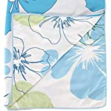 Factorywala Floral Print Super Soft And Warm Micro Fiber Single Bed Blue Dohar/Ac Comfort/Blanket/Quilt ( Size 60X 90 Inch) 1 Gold Plated Chain
