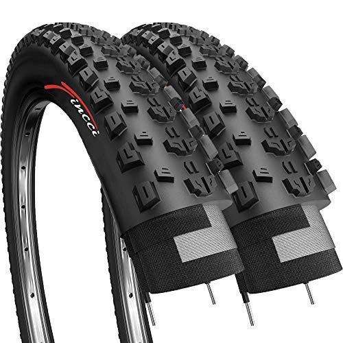 Fincci Paar 27,5 x 2,10 Zoll 54-584 Reifen für Rennrad Mountain MTB Schlamm Schmutz Offroad Fahrrad (2er Pack) -