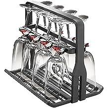 AEG Soporte escurridor universal con capacidad para 8 copas de cristal, compatible con lavavajillas Siemens