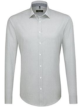 SEIDENSTICKER Herren Hemd X-Slim 1/1-Arm Bügelleicht City-Hemd Kent-Kragen Kombimanschette weitenverstellbar