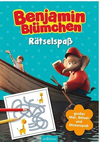 Benjamin Blümchen - Rätselspaß: Großer Mal-, Rätsel- und Stickerspaß