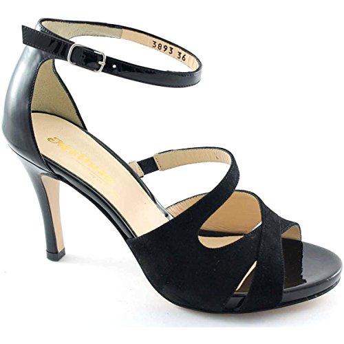 Melluso Morena S810 90-Sandale Élégante à Talon Femme noir