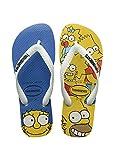 Havaianas Simpsons Infradito Unisex - Adulto, Multicolore (White 0001), 45/46 EU (43/44 Brazilian)