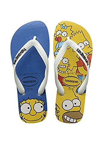 Havaianas Imprimee Tongs Homme/Femme Simpsons White-EU :37/38-BR:35/36