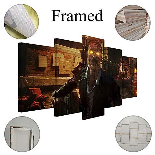 Fbhfbh Cuadro En Lienzo 5 Piezas Arte Zombie Imagen