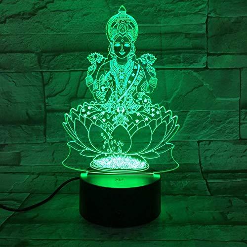 Cflegend 3d nachtlicht (touch + fernbedienung) led illusion licht cartoon charakter statue film licht weiches licht party licht 7 farbe usb nachtschlaf licht