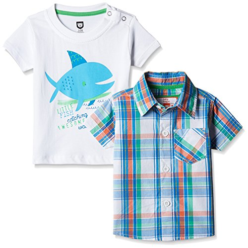 612 League Baby Boys' Shirt (BLS16I38006_White_3-6 Months)
