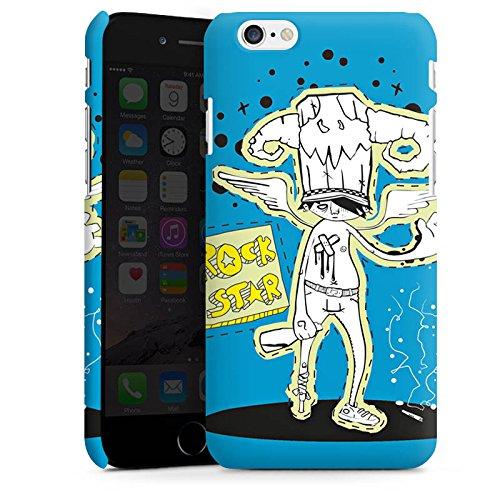 Apple iPhone X Silikon Hülle Case Schutzhülle Rockstar Party Blau Premium Case matt