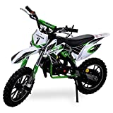 Kinder Mini Crossbike Gazelle 49 cc 2-takt inklusive Tuning Kupplung 15mm Vergaser Easy Pull Start verstärkte Gabel Dirt Bike Dirtbike