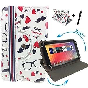 """Medion lifetab s10346 mD 98992 10.1 tablette avec haut et rotatif à 360° - 10 """"happy saint valentin day"""