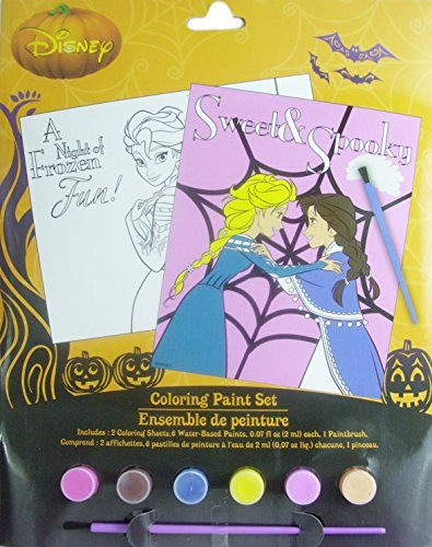 (Disney Frozen Sweet and Spooky Halloween Coloring Paint Set by Disney)