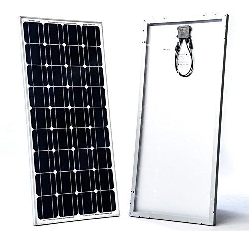 SolarKontor Mono 100Watt 12V Solarmodul Solarpanel Monokristallin 100W Wohnmobil Camper