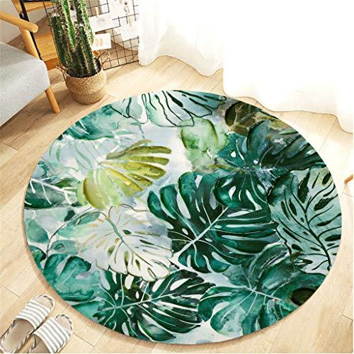 Xmansky Runde Flanell gedruckten Schlicker saugfähige Matten,Ananas-Serie Gartenarbeit komfortable Anti-Rutsch-Matte Teppich Kinderzimmer Teppich Küchenmatte Rug (Durchmesser:55cm)