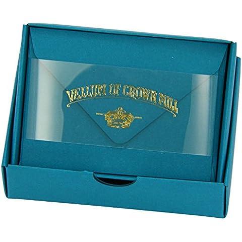 Original Crown Mill Vellum-Mini biglietti con buste, colore: turchese (Confezione da 20)