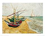 1art1 36117 Vincent Van Gogh - Fischerboote Am Strand Von Saintes-Maries, 1888 Poster Kunstdruck 70 x 50 cm
