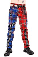 Tiger of London Zip Bondage Red and Blue Split Leg Pants