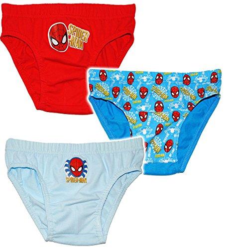 Preisvergleich Produktbild 3 TLG. Slip / Unterhosen - Ultimate Spider-Man - Größe 4 bis 5 Jahre - Gr. 110 bis 116 - 100 % Baumwolle - für Kinder Pants Unterhosen Unterhose Spiderman..