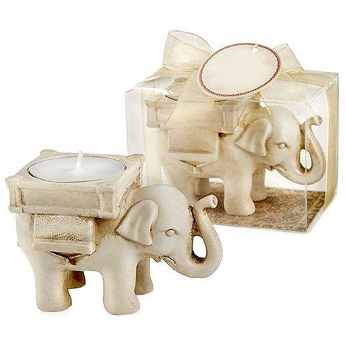 tianxiangjjeu Kerzenhalter Elefant, Kunstharz, für Geburtstag, Hochzeit, Party, Dekorationen multi