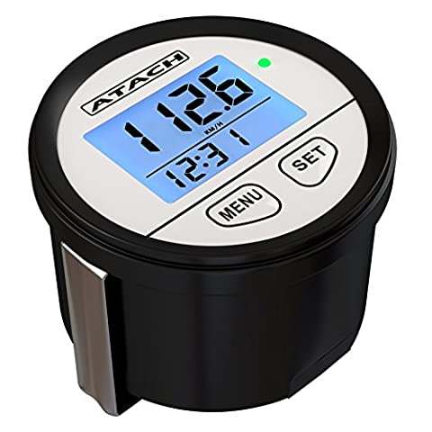 atach 60mm Digital GPS Tacho mit Hintergrundbeleuchtung Display und High Speed Recall für Auto, Motorrad, marine und UTV