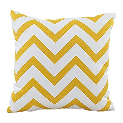 Hangood Throw Pillow Case Cushion Covers Cotton Waves Grey - low-cost UK light store.