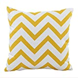 Hangood Throw Pillow Case Cushion Covers Cotton Waves Yellow 18 X 18 inches