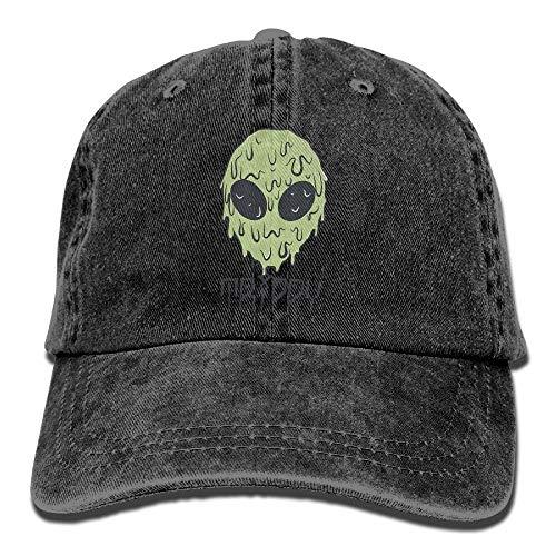 DD Decorative HQBE99E Trippy Alien Men Girl Adjustable Adults Denim Baseball Hat - Alien Refill