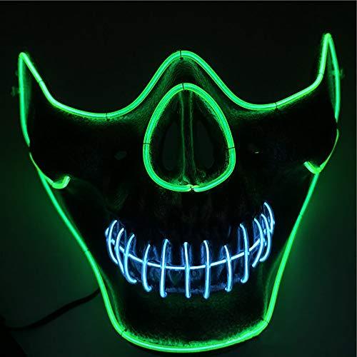 Grimassen-Horror-Thriller leuchtende Maske, kalte Geist-gehende Feiertags-Partei-Maske, Halloween-Masken-Leuchtstofftanz-leuchtende - Thriller Themen Kostüm