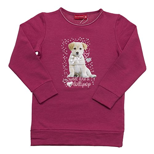 SALT AND PEPPER Sweat Cats & Dogs Lollipop, Felpa Bambina, Rosa (Purple Wine Melange 895), 4 anni