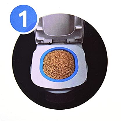 UEETEK Pet Toilet Training Seat for Cats Potty Training Tray Cats Kit (Blue) 3