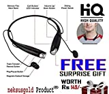 Neksusgold HBS-730 Bluetooth Stereo Headset HBS 730 Wireless Bluetooth Mobile Phone Headphone Earpod Sport Earphone with call functions (Black) for LG G Flex 2 Bluetooth Headsets (Get a free gift of 149 with purchase of this product from neksusgold)
