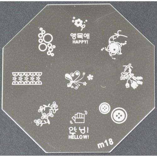 Nail Art emboutissage des tôles - M01 CODE : M18-plaque