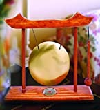 Find Something Different Etwas Finden Verschiedene Dekorative Tisch Gong in Holz Rahmen, Glas, Mehrfarbig, 12cm Durchmesser