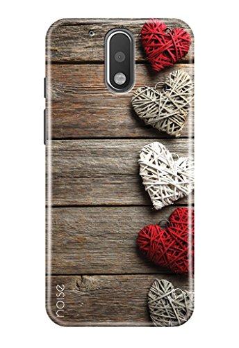 Noise Designer Printed Case / Cover for Motorola Moto G4 Plus(4th Generation) / Patterns & Ethnic / Wooden Hearts Design